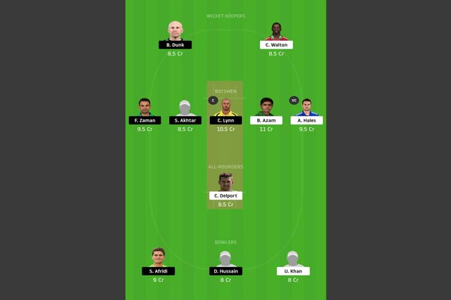 KAR vs LAH dream11 team