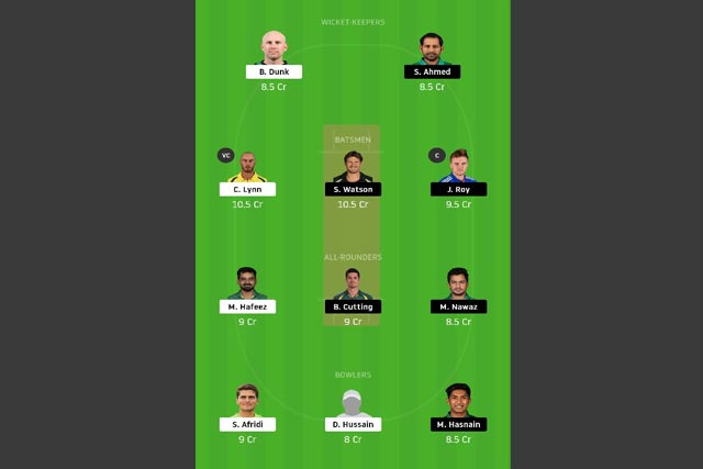 LAH vs QUE dream11 team