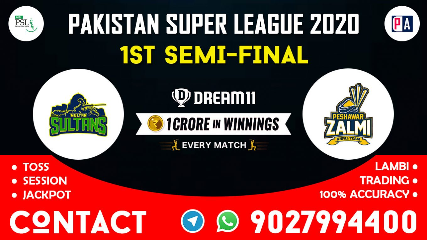 1st Semi-Final Match, MUL vs PES, Dream11 Team Prediction