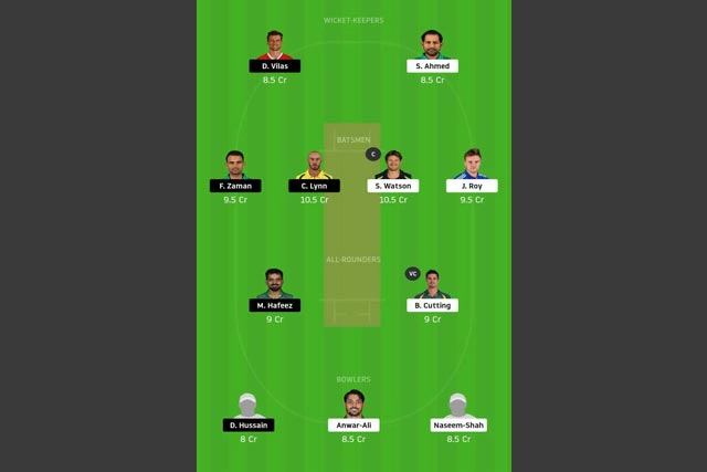 QUE vs LAH dream11 team
