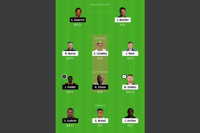 ENG vs WI dream11 team