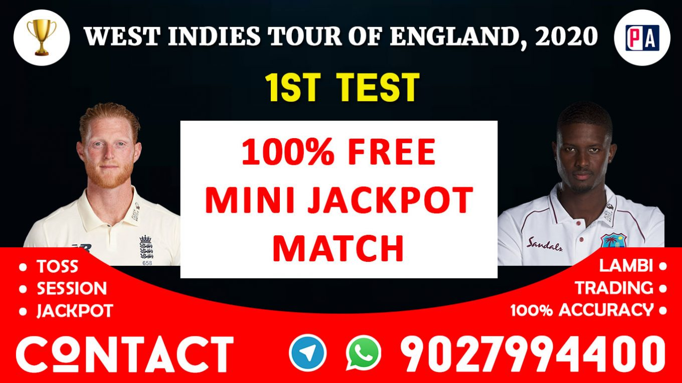 1st Test, ENG vs WI, Today Match Prediction