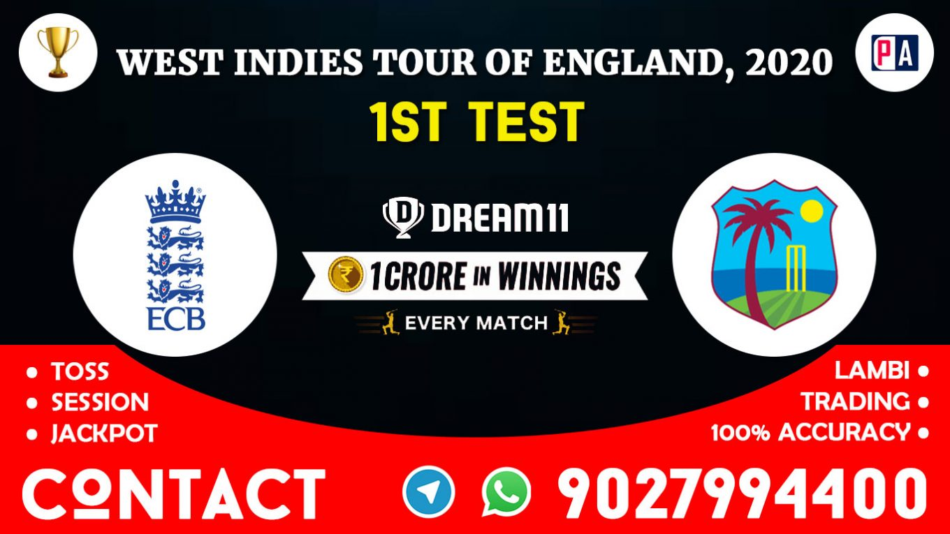 1st Test, ENG vs WI, Dream11 Team Prediction