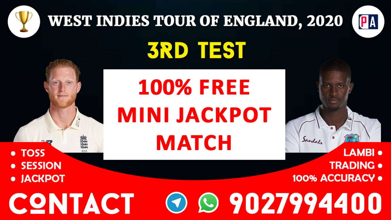 3rd Test, ENG vs WI, Today Match Prediction