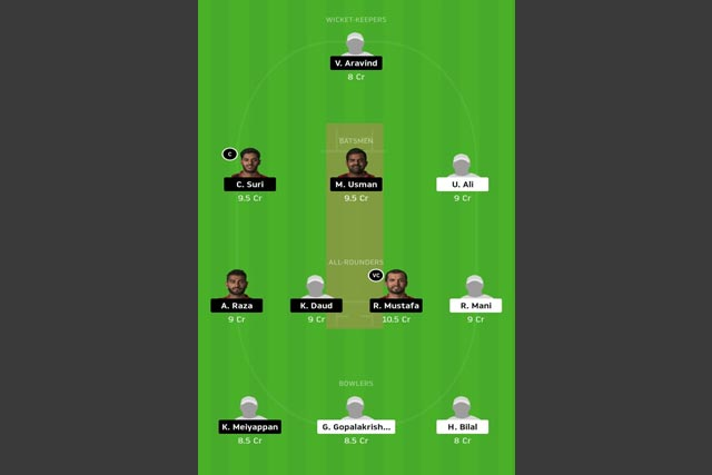 SBK vs ECB dream11 team