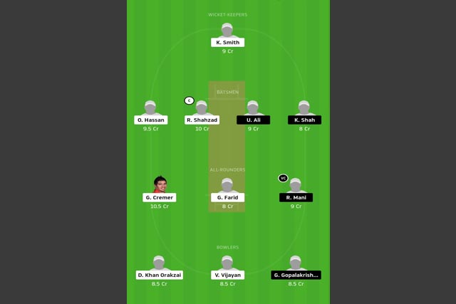 TAD vs SBK dream11 team