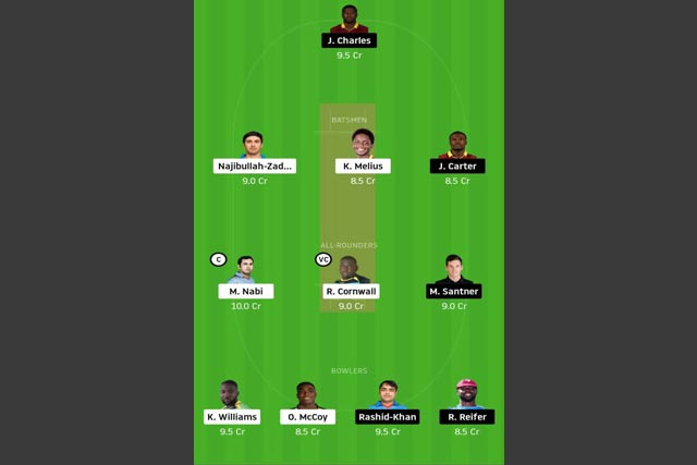SLZ vs BAR dream11 team