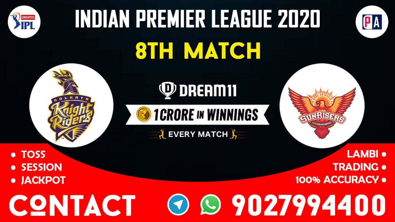 8th Match KKR vs SRH Dream11 Team Prediction