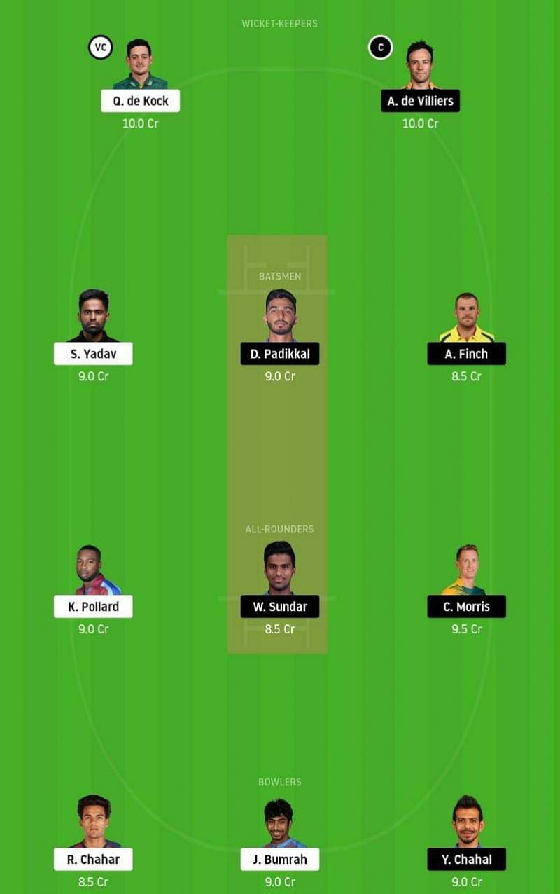 MI vs RCB dream11 team