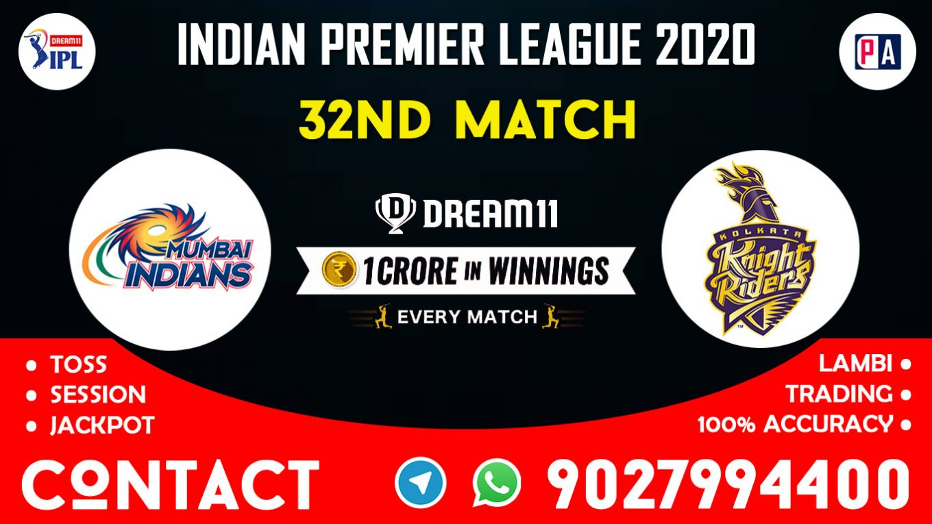 32nd Match MI vs KKR Today Dream11 Prediction