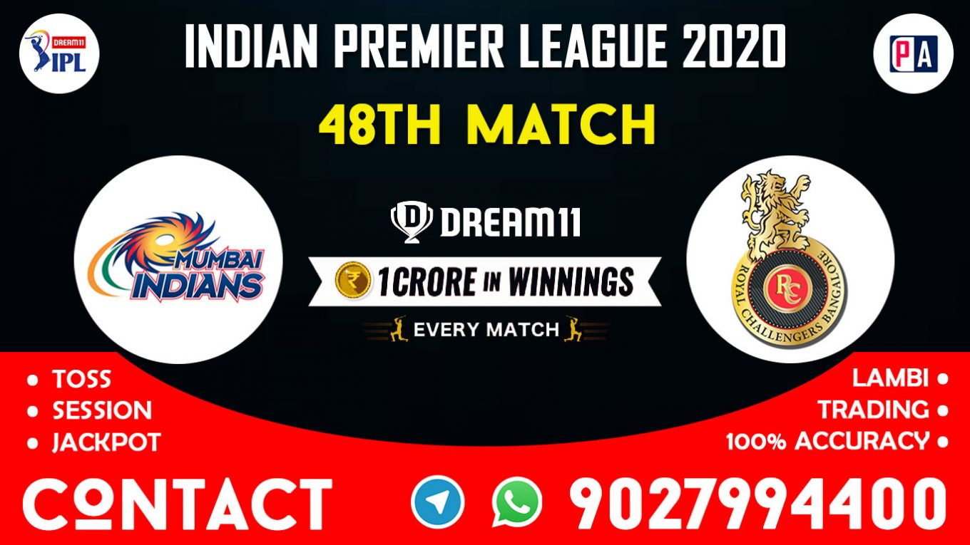 48th Match MI vs RCB Today Dream11 Prediction