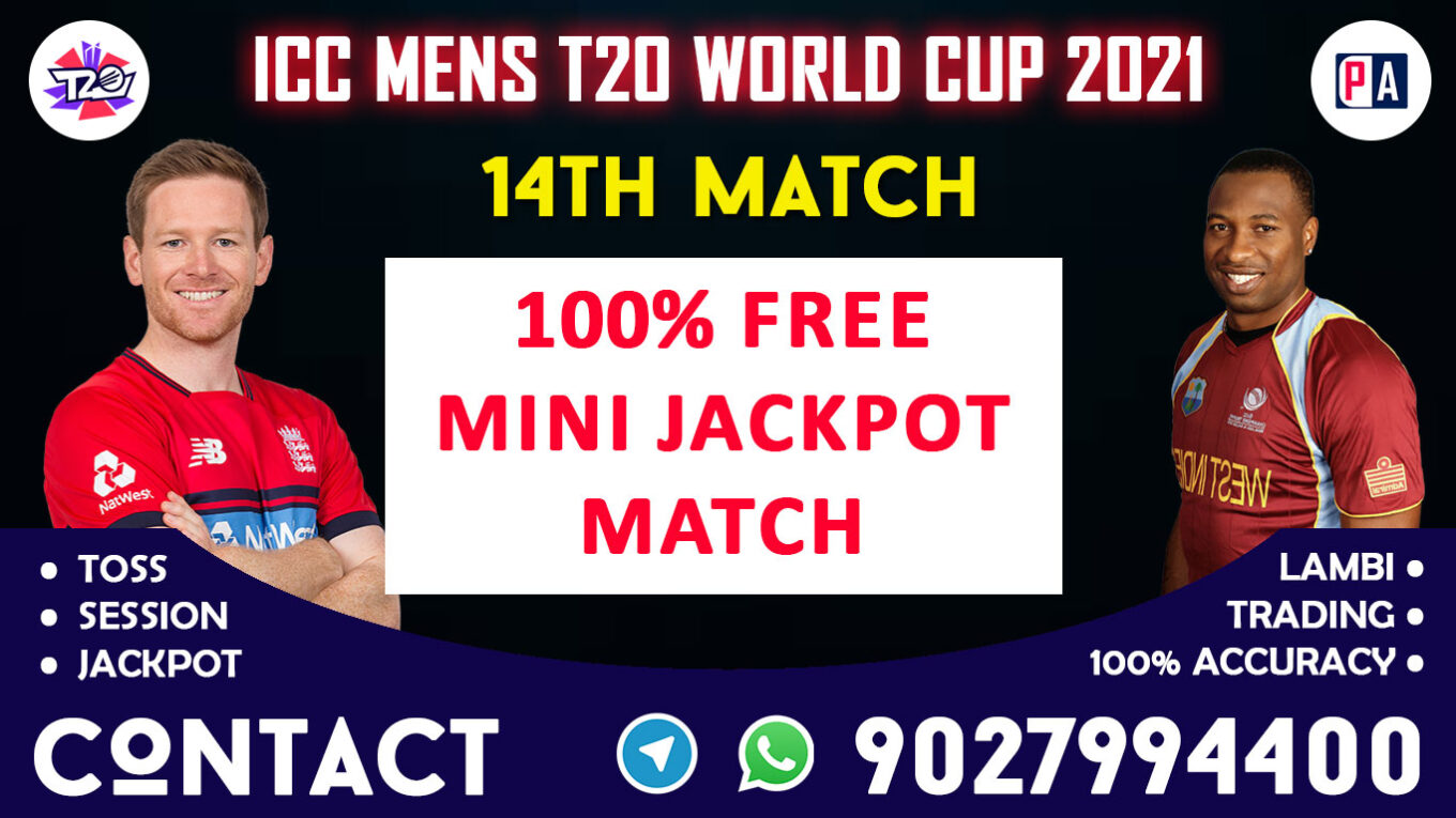 14th Match ENG vs WI Today Match Prediction